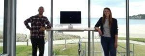 stand desk team