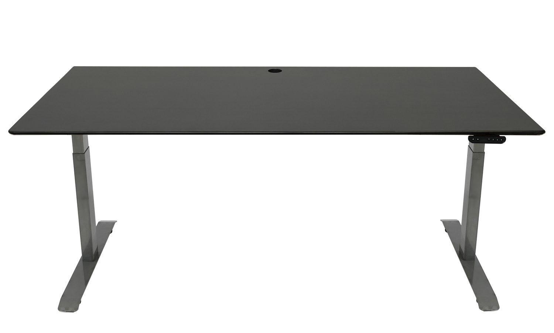 Standing Desk: 1800x800 - Blackwash Bamboo - Black Frame
