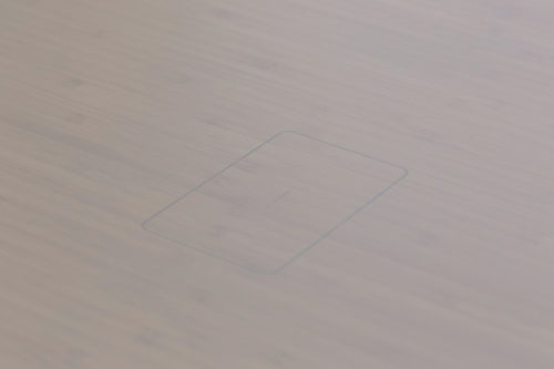 Whitewash bamboo wireless charging outline